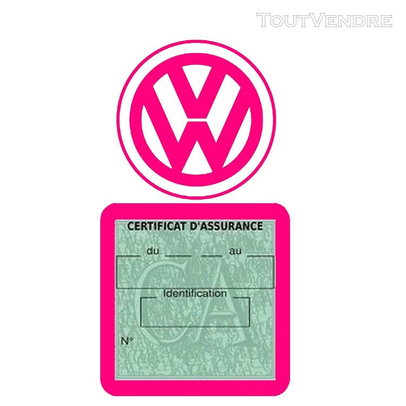Etui vignette assurance voiture LOGO VW VOLKSWAGEN 650691616