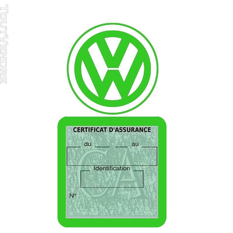 Etui vignette assurance voiture LOGO VW VOLKSWAGEN 650691619