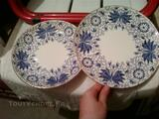 Excellence Service de vaisselle bleu blanc doré