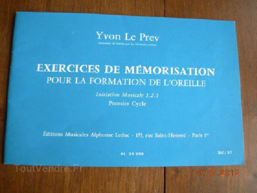 EXERCICES DE MEMORISATION FORMATION DE L'OREILLE 90875951