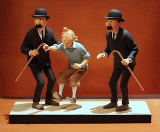 """FARIBOLES Hergé, Tintin """"Comme on se retrouve"""" 350ex"""