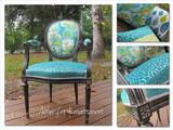 Fauteuil cabriolet turquoise