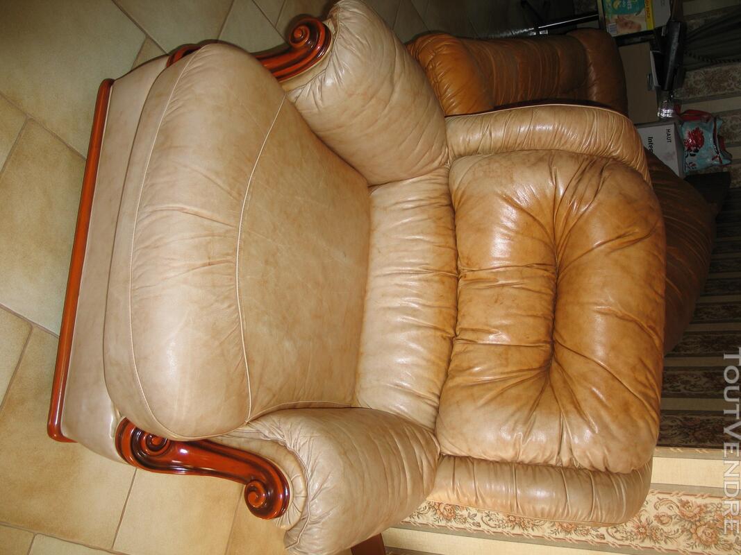 Fauteuils de salon cuir de luxe 122755472