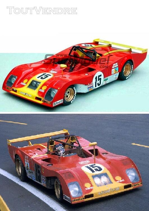 Ferrari 312 PB 24H du Mans 1973 kit resine 1/18 Profil 24 131342477