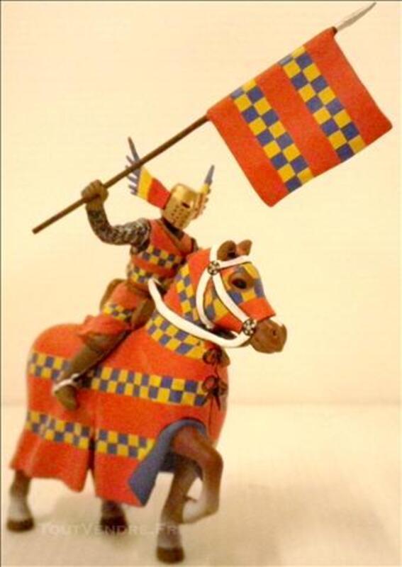 Figurine CHEVALIER Ailé Et Son Cheval Soldat Plomb Frontline 74609792