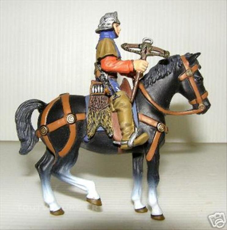 Figurine - Chevalier Et Son Cheval Soldat Plomb Frontline 74609811