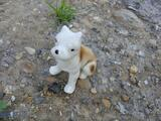 Figurine porcelaine chien