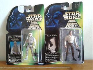 Figurine STAR WAR: Han SOLO et Luke SKYWALKER