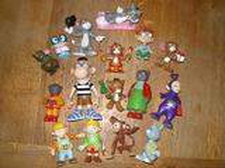Figurines ( teletubbies, bob bricoleur, petit ours brun