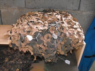 Filet en feuilles camouflé désert de l'Armée Française