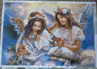Fillettes anges