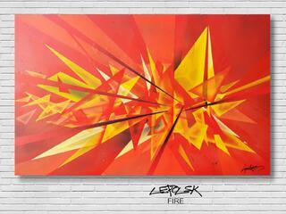 FIRE le tableau street art abstrait moderne sur toile