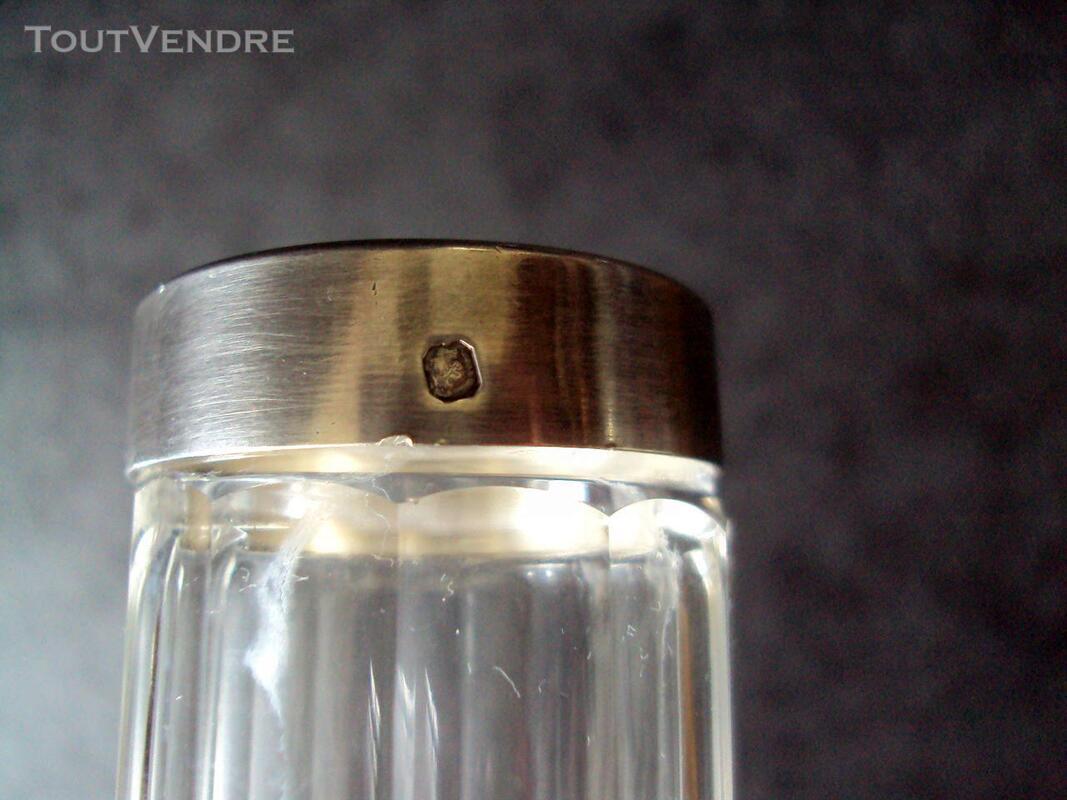Flacon cristal brosse dents  argent minerve 244197353