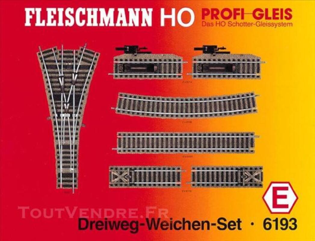 FLEISCHMANN Set aiguillage triple Profi HO 6193 E 73851987