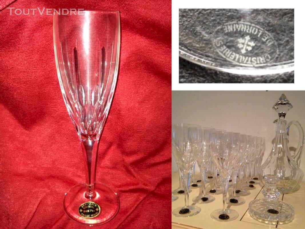 Flutes à champagne en cristal 116448129