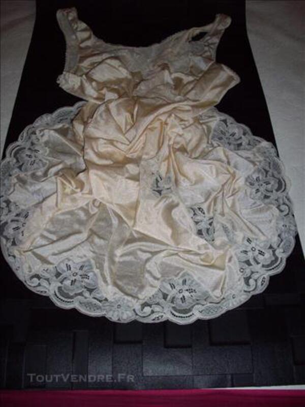 Fond de robe combinaison nylon unterkleid 74037005