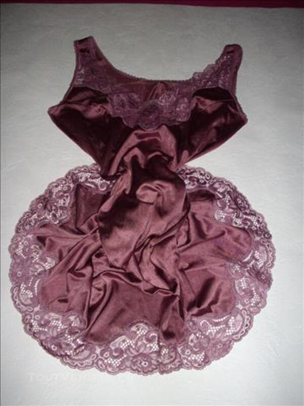 Fond de robe combinaison nylon unterkleid 77533998