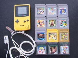 Game Boy Color Nintendo + 12 jeux + system perfect dark
