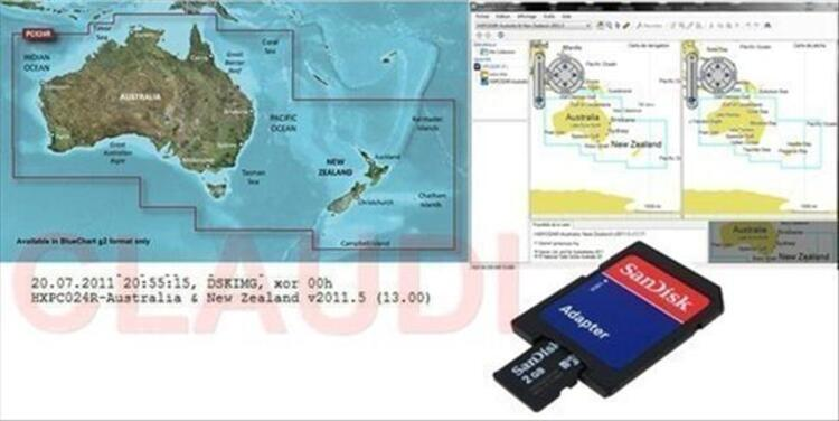 Garmin BlueChart g2  HXPC024R - Australia & New Zealand 73988105