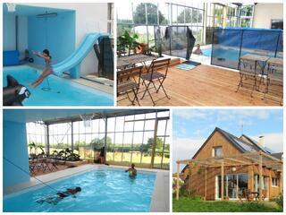 Gite & piscine couverte chauffée en campagne près de NANTES