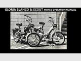 GLORIA BLANCO SCOUT MOPED OPERATION MANUALs - 75pg w/ Intram