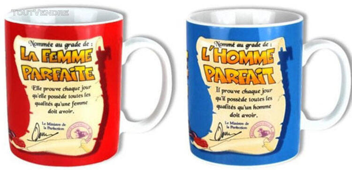 Grâce à ces mugs, vous serez parfait ou parfaite .... 144578734