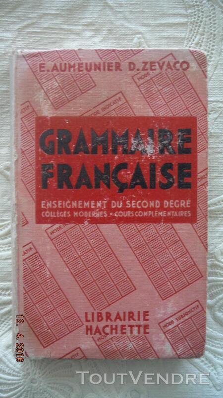 GRAMMAIRE FRANCAISE - Second degré 260737325