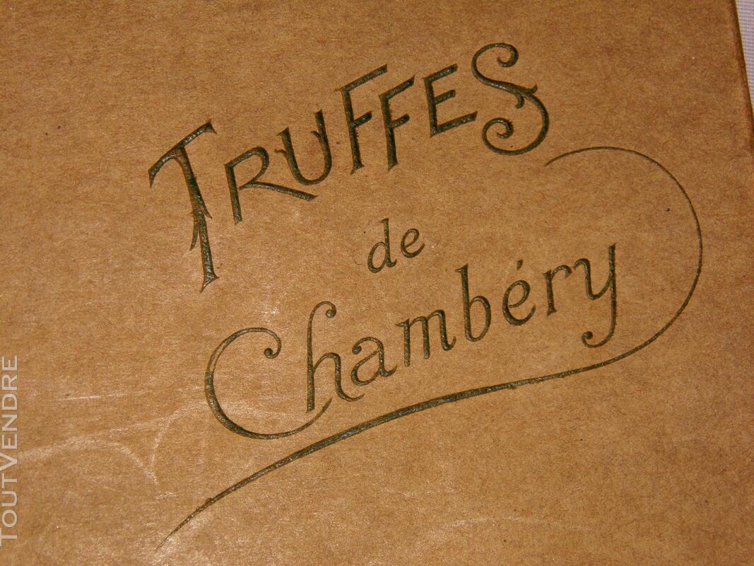GRANDE BOITE VINTAGE CONFISERIE TRUFFES DE CHAMBERY GONNET 182120435