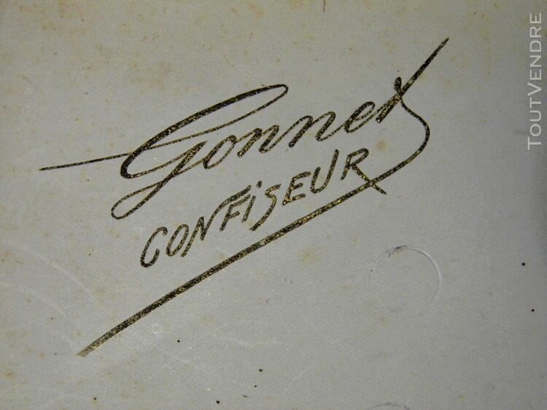 GRANDE BOITE VINTAGE CONFISERIE TRUFFES DE CHAMBERY GONNET 182120441