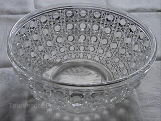 Grande coupe ancienne cristal BACCARAT modèle Diamant