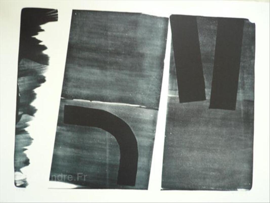 Grande litho Hans HARTUNG-L15-1974-105cmx76cm 54526662