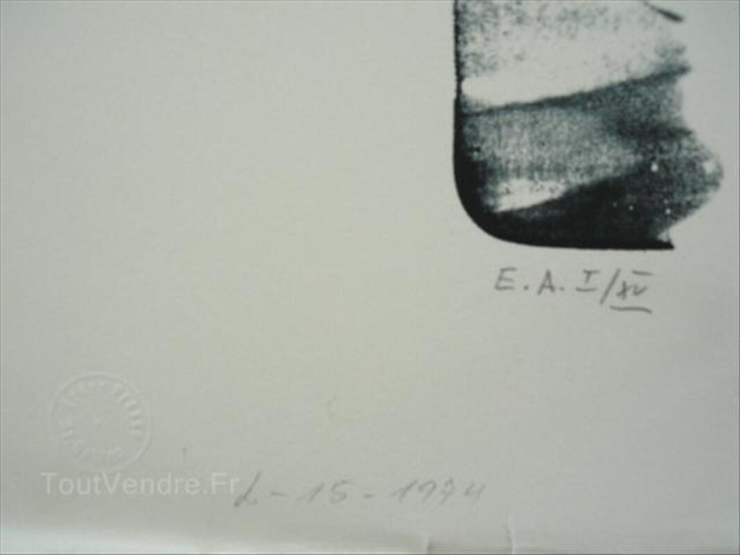 Grande litho Hans HARTUNG-L15-1974-105cmx76cm 54526665