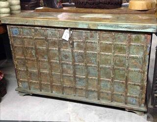 Grande malle ou coffre de rangement - H: 78 cm