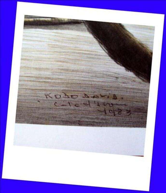 Gravure ? coin des pêcheurs Côte Ivoire signée  KOBO 80081105