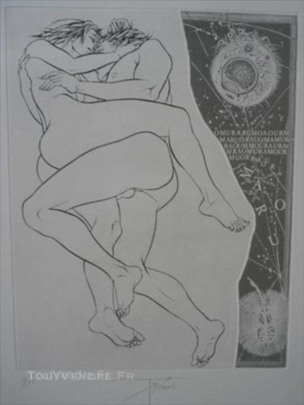 Gravure originale de P-Y.TREMOIS  Les amants 46696516