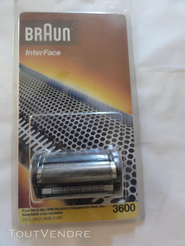 GRILLE rasoir BRAUN inter face 3600 adaptable divers modèles 111484126