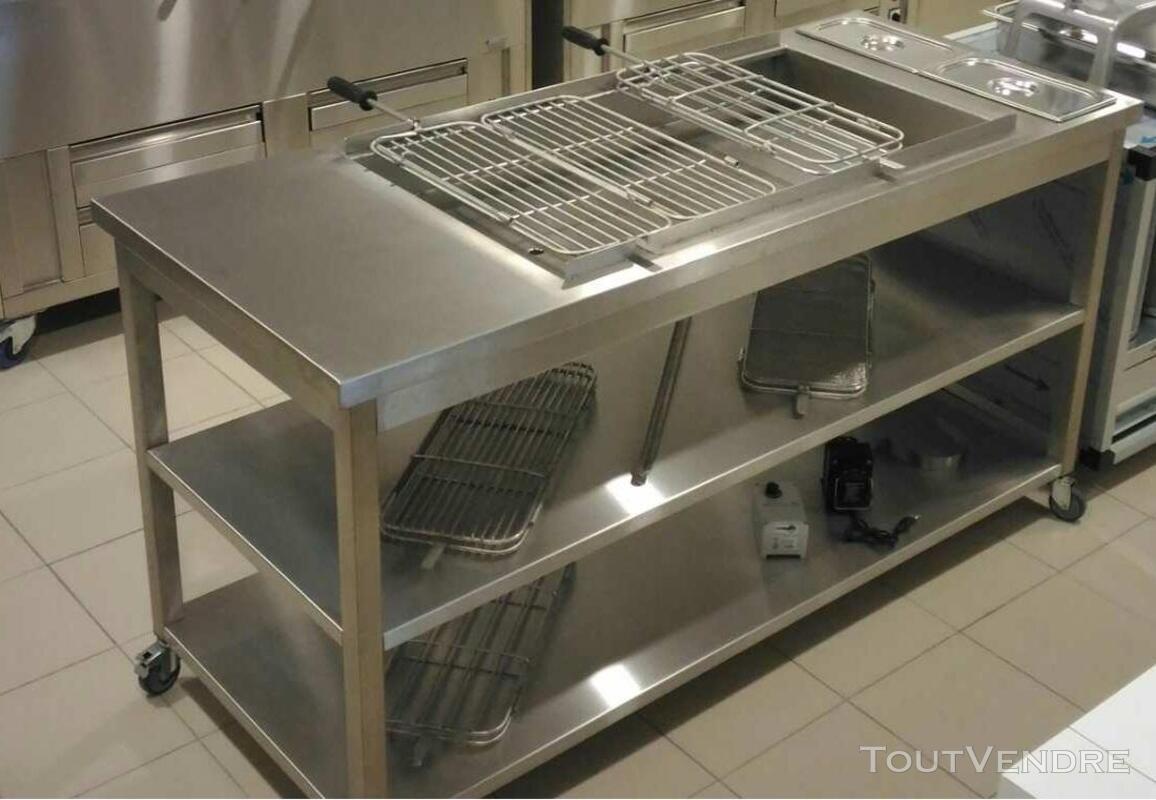 Grilles inox pour BBQ au charbon de Bois 324805094