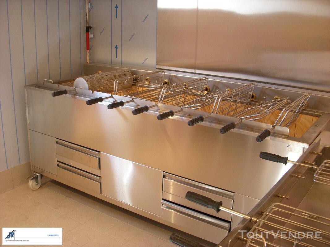 Grilles inox pour BBQ au charbon de Bois 324805103