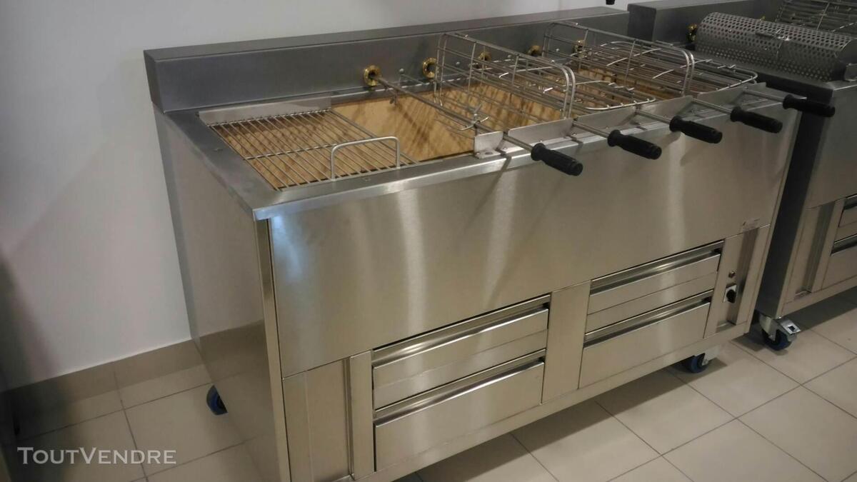 Grilles inox pour BBQ au charbon de Bois 324805118