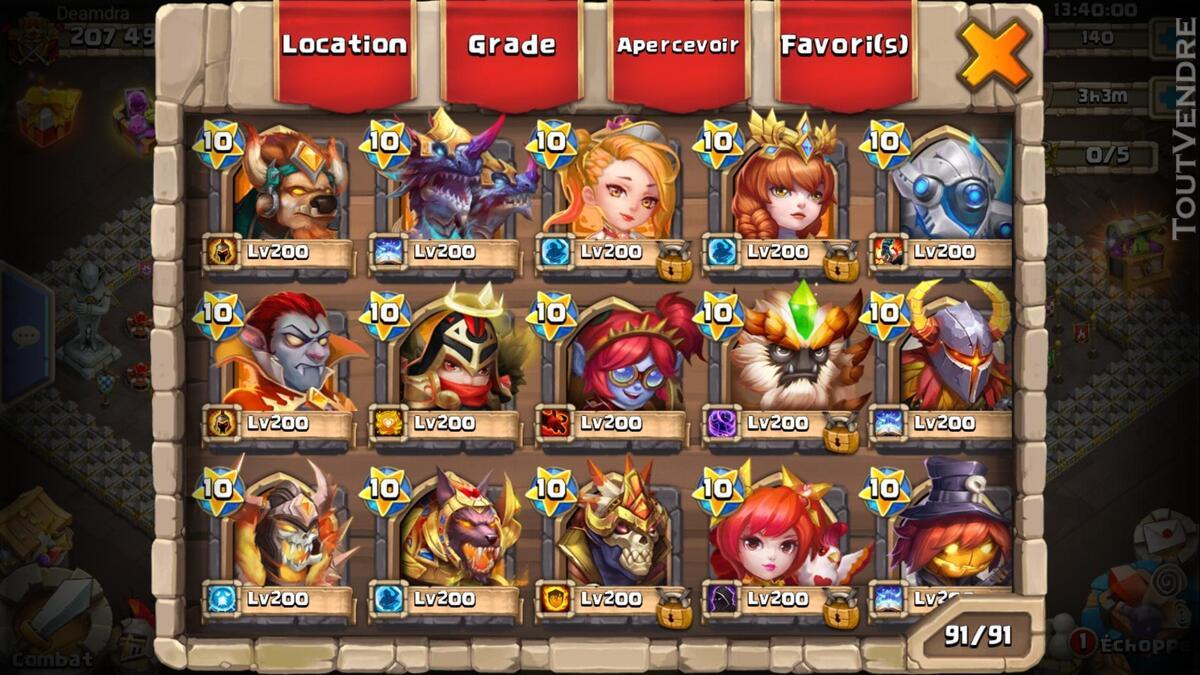 Gros compte castle clash 370026169