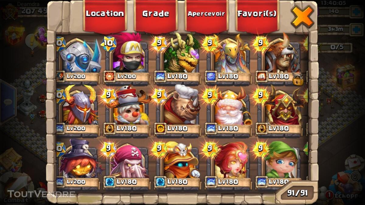 Gros compte castle clash 370026172