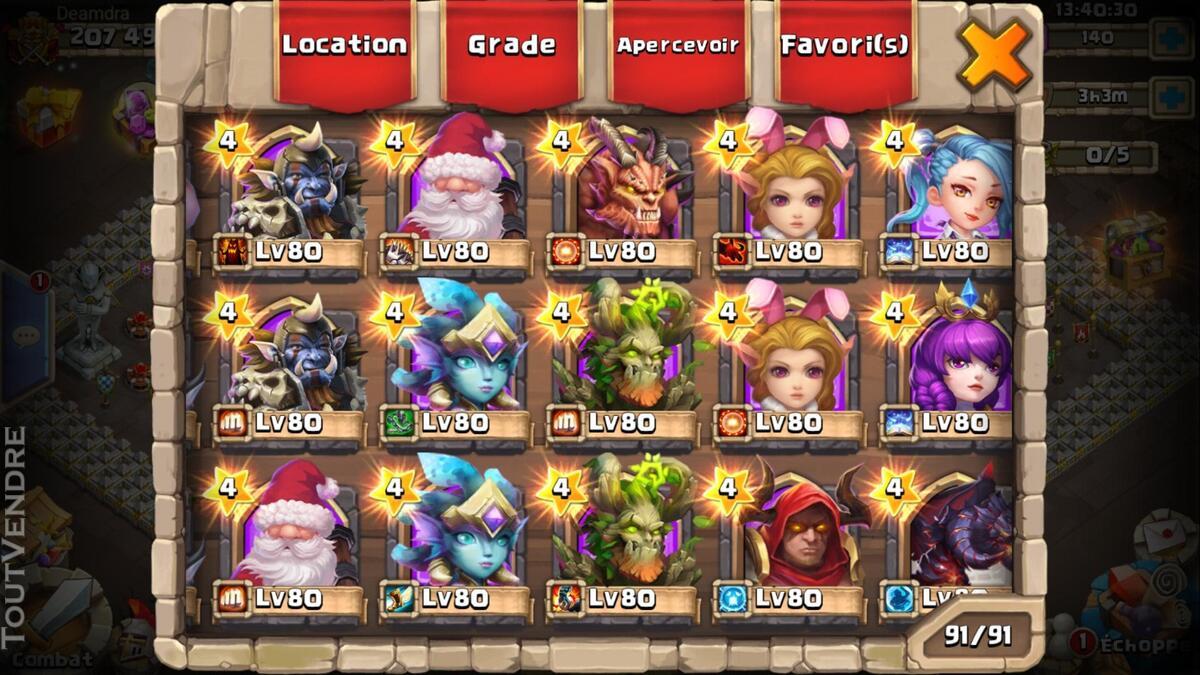Gros compte castle clash 370026175