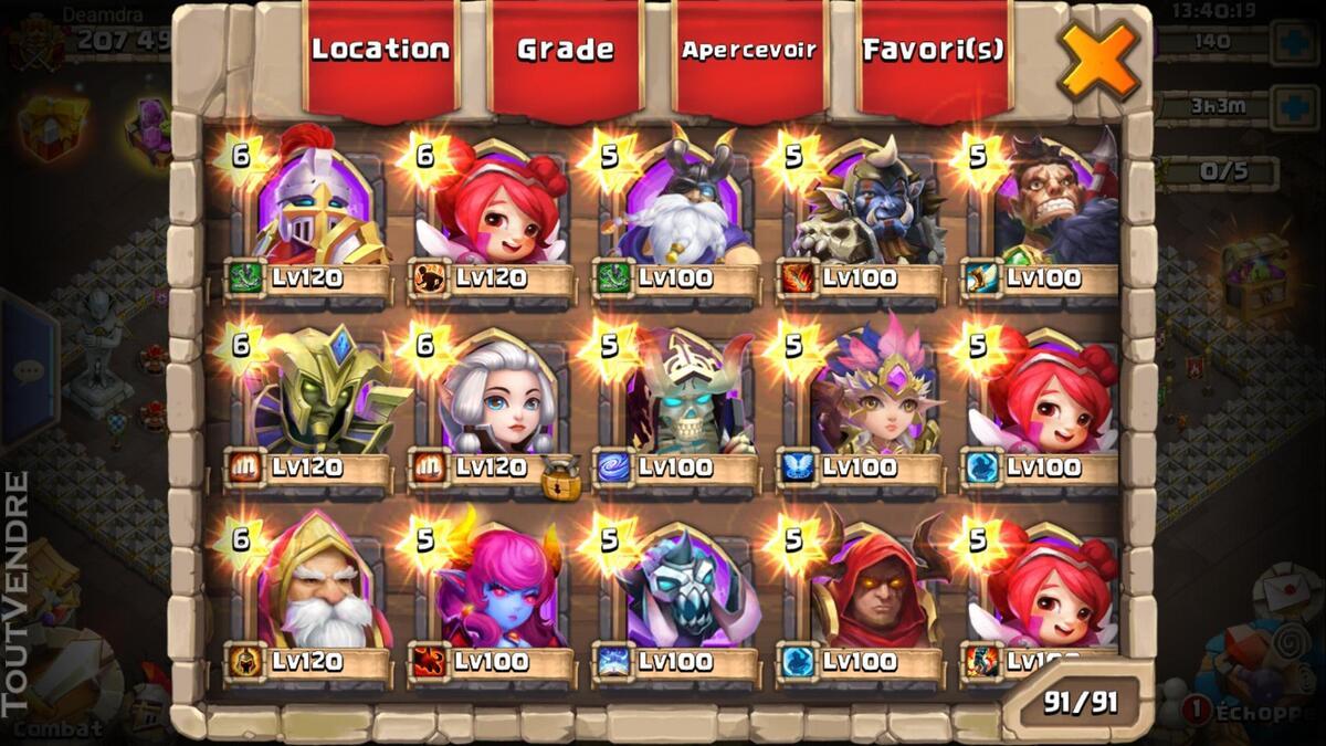 Gros compte castle clash 370026178