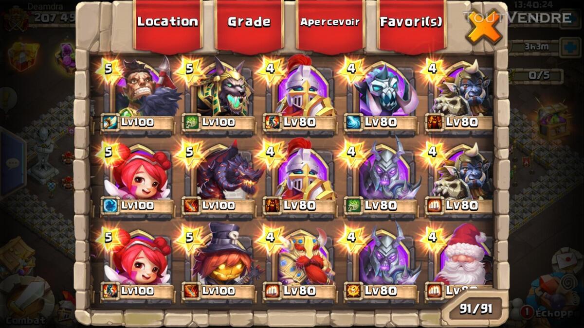 Gros compte castle clash 370026181