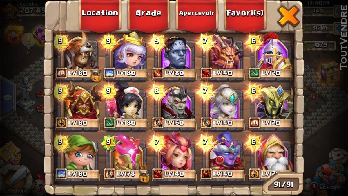 Gros compte castle clash 370026184