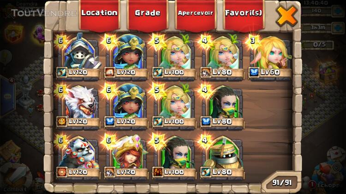 Gros compte castle clash 370026187