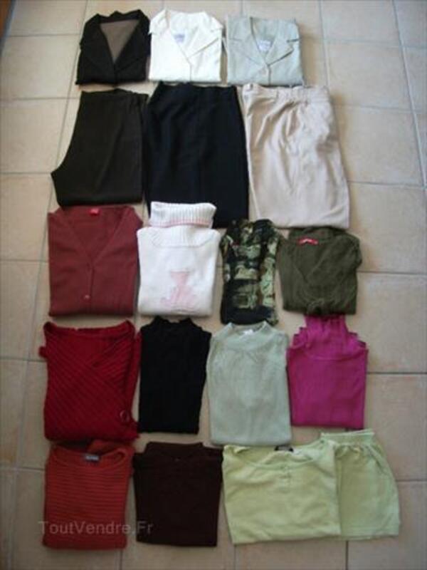 Gros lot pulls, vestes, pantalons, gilet femme T. 40 88250453