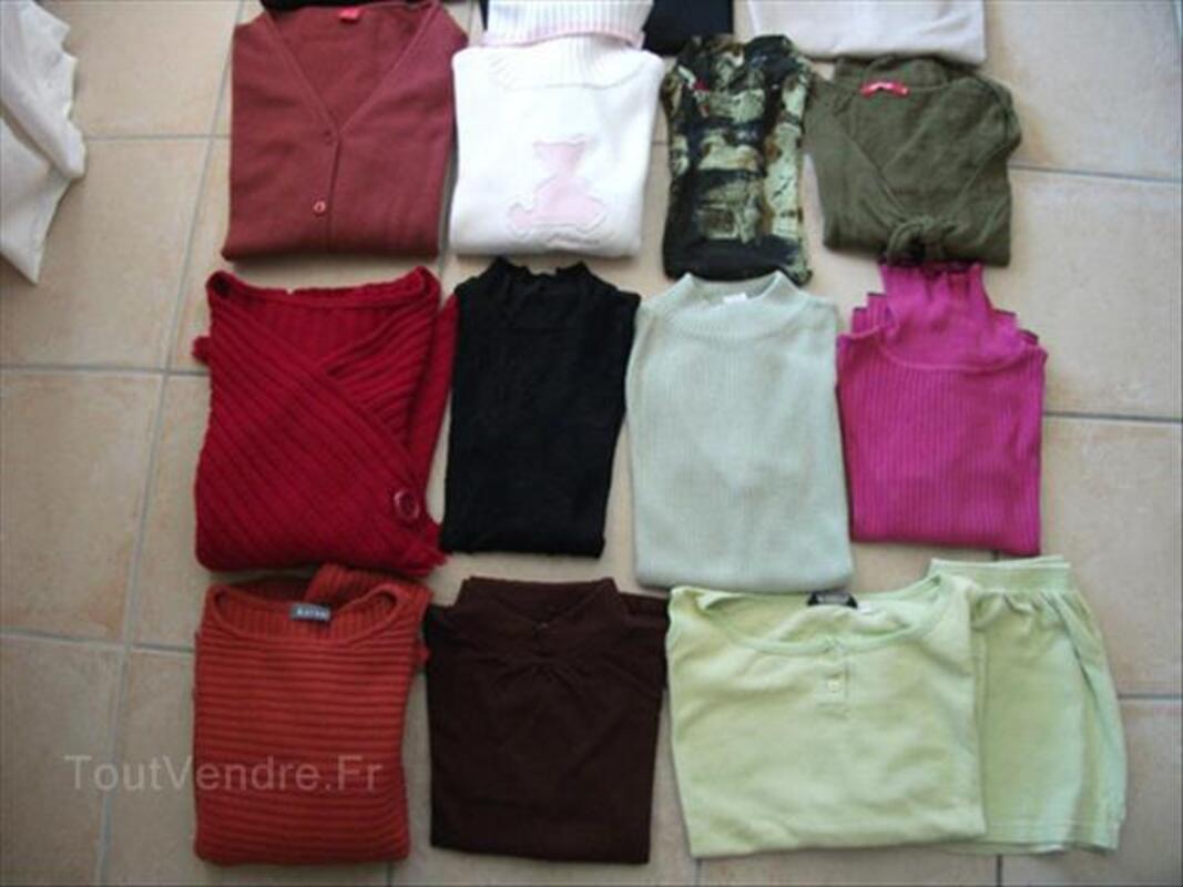 Gros lot pulls, vestes, pantalons, gilet femme T. 40 88250454