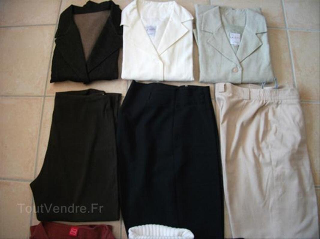 Gros lot pulls, vestes, pantalons, gilet femme T. 40 88250455