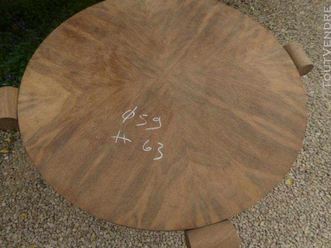 Gueridon table ancien art deco noyer brut decape 313065802